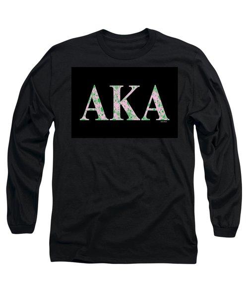 Alpha Kappa Alpha - Black Long Sleeve T-Shirt