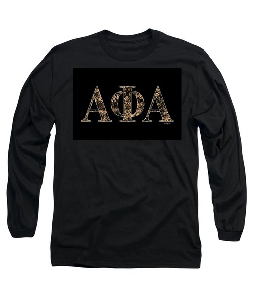 Alpha Phi Alpha - Black Long Sleeve T-Shirt by Stephen Younts