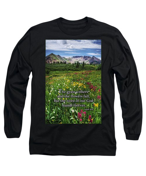 Long Sleeve T-Shirt featuring the photograph Alpine Meadow by Priscilla Burgers