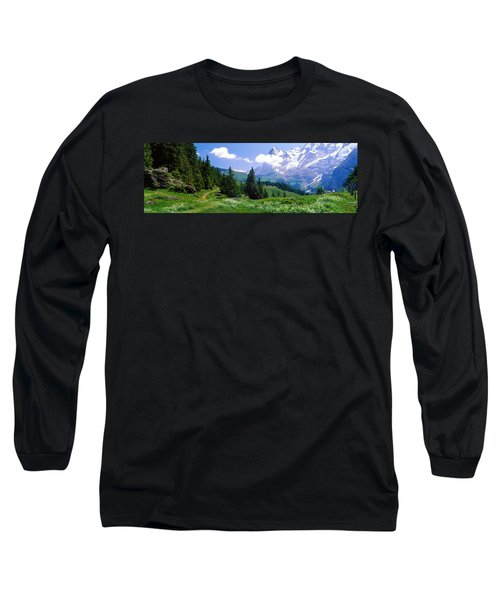 Alpine Scene Near Murren Switzerland Long Sleeve T-Shirt