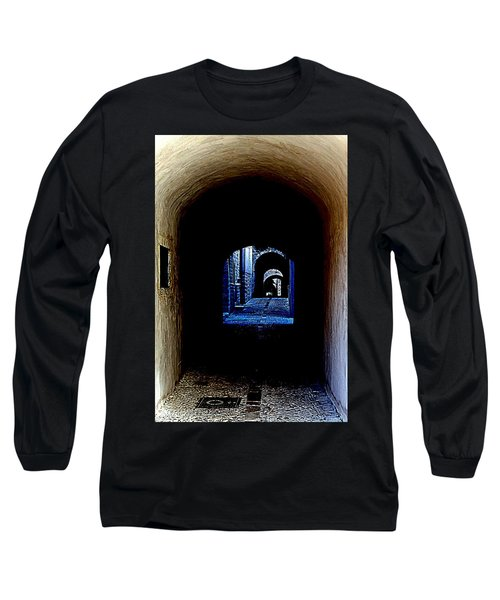 Altered Arch Walkway Long Sleeve T-Shirt by Richard Rosenshein