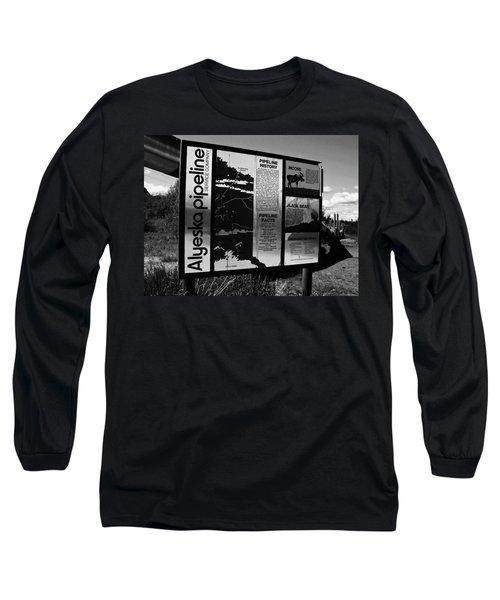 Alyeska Pipeline Long Sleeve T-Shirt by Juergen Weiss