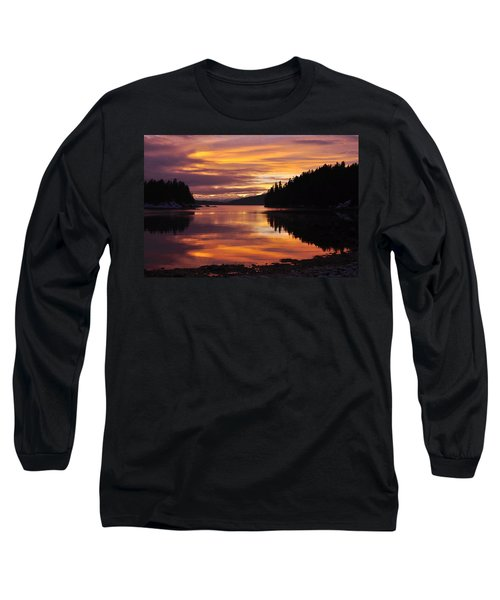 Amalga Harbor Sunset Long Sleeve T-Shirt