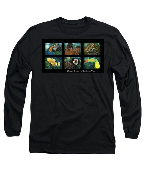Amazon Series Collage Long Sleeve T-Shirt by Sandra LaFaut