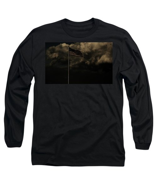 Long Sleeve T-Shirt featuring the photograph America....... by Jessica Shelton