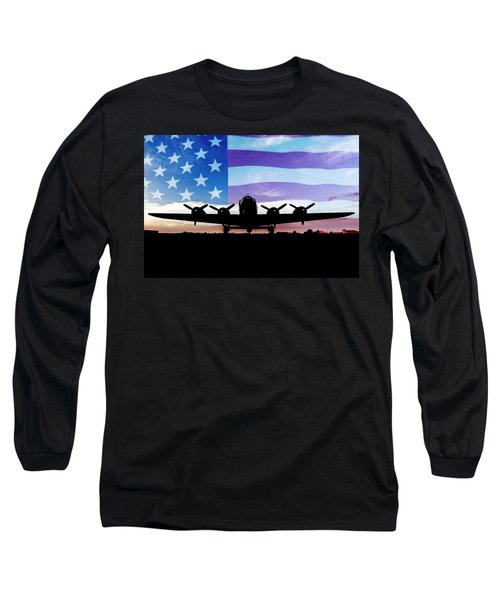 American B-17 Flying Fortress Long Sleeve T-Shirt