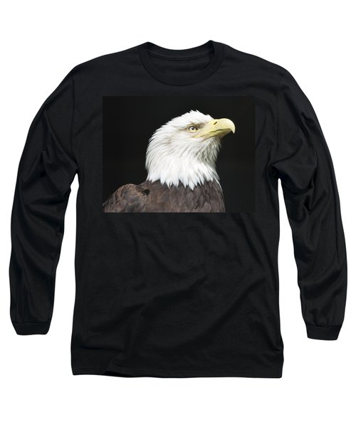 American Bald Eagle Profile Long Sleeve T-Shirt by Richard Bryce and Family