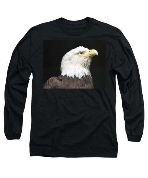 American Bald Eagle Profile Long Sleeve T-Shirt