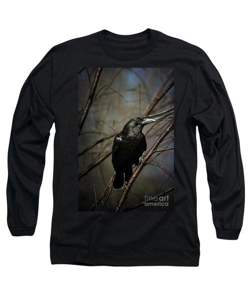 American Crow Long Sleeve T-Shirt by Lois Bryan