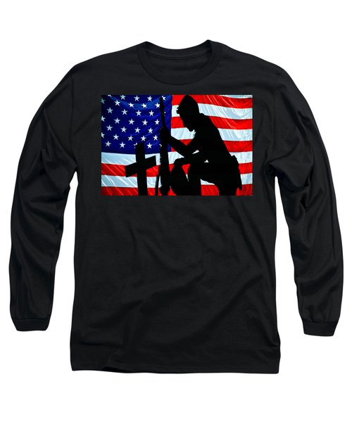 A Time To Remember American Flag At Rest Long Sleeve T-Shirt