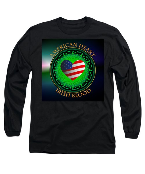 American Heart Irish Blood Long Sleeve T-Shirt
