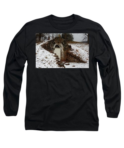 Long Sleeve T-Shirt featuring the photograph American Hobbit Hole by Michael Porchik