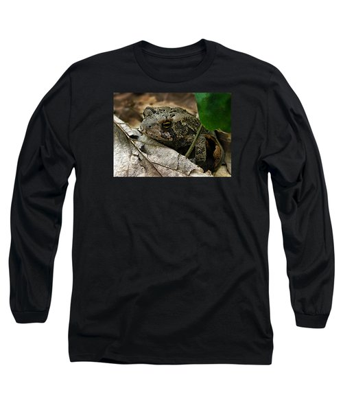 American Toad Long Sleeve T-Shirt by William Tanneberger