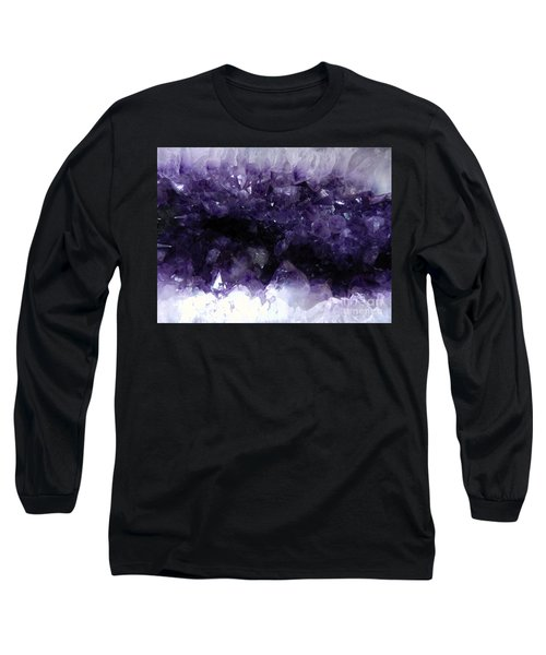 Amethyst Geode Long Sleeve T-Shirt by Amar Sheow