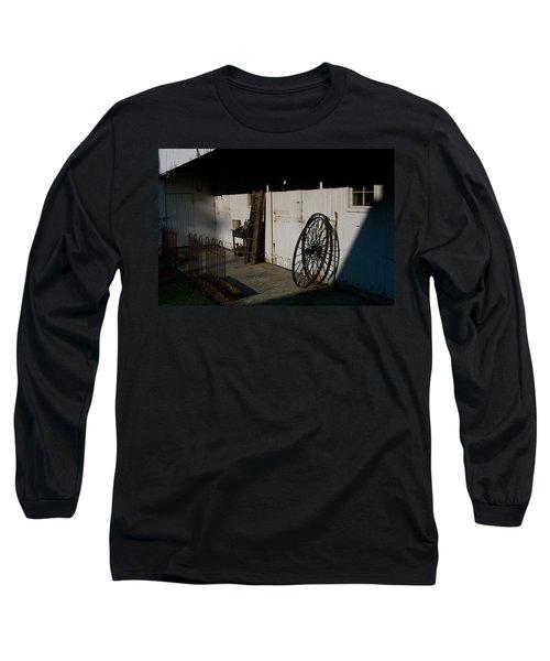 Amish Buggy Wheel Long Sleeve T-Shirt by Greg Graham