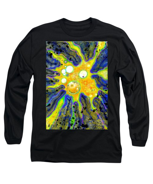 Long Sleeve T-Shirt featuring the painting Amoeba Senescent by Carol Jacobs