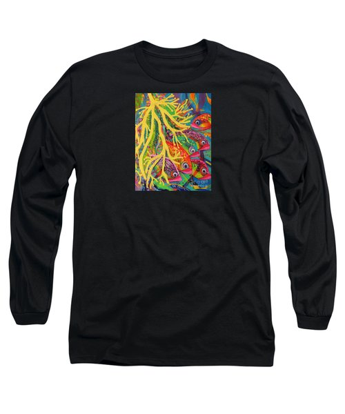 Long Sleeve T-Shirt featuring the painting Amongst The Coral by Lyn Olsen