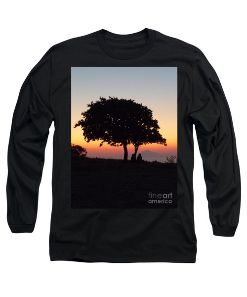 An African Sunset Long Sleeve T-Shirt by Vicki Spindler