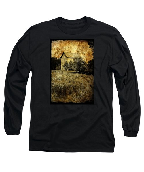 Long Sleeve T-Shirt featuring the photograph An Aged Photo Of The Old Waterloo Mill by Janice Adomeit