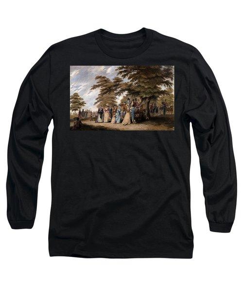 An Airing In Hyde Park, 1796 Long Sleeve T-Shirt