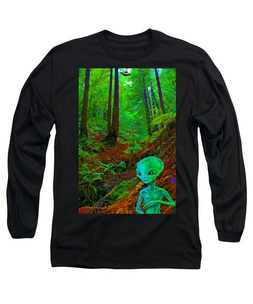 An Alien In A Cosmic Forest Of Time Long Sleeve T-Shirt