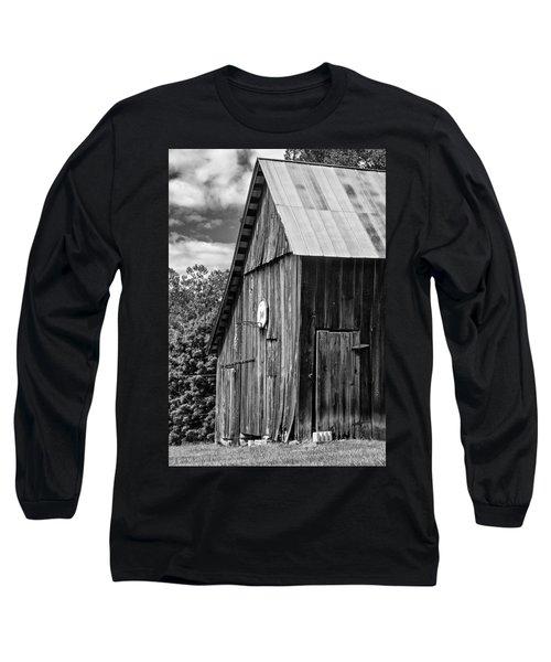 An American Barn Bw Long Sleeve T-Shirt