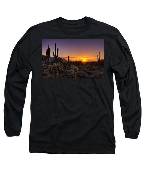 An Arizona Winter Sunrise Long Sleeve T-Shirt