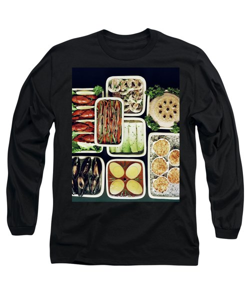 An Assortment Of Food In Containers Long Sleeve T-Shirt