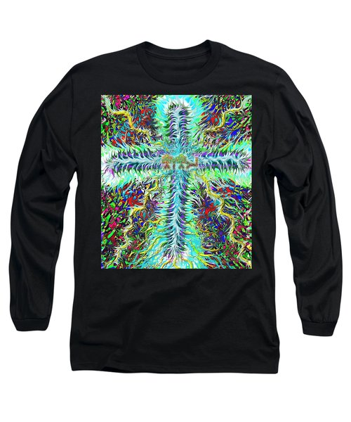 Ancient Hebrew Yhwh Cross 6 7 2014 Long Sleeve T-Shirt