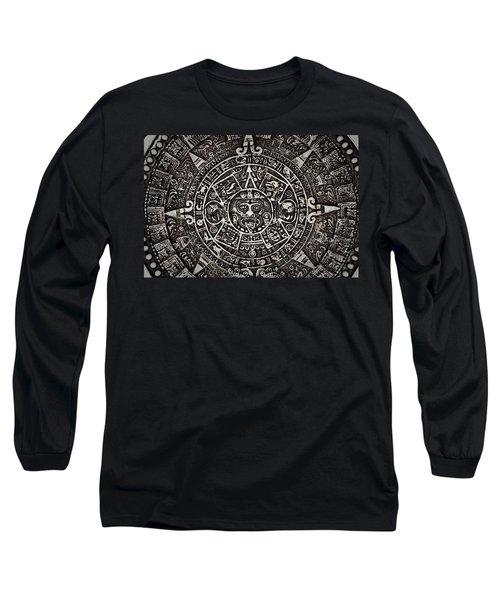 Aztec Sun God Long Sleeve T-Shirt