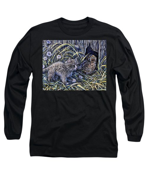 And The Grasshopper Says.. Owl Be Seeing U Long Sleeve T-Shirt by Gail Butler