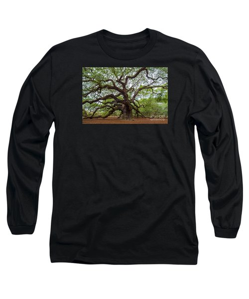 Angel Oak Tree Long Sleeve T-Shirt by Dale Powell