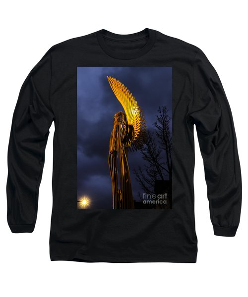 Angel Of The Morning Long Sleeve T-Shirt by Steve Purnell
