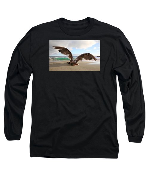 Angels- For The Lord Himself Will Descend From Heaven With A Shout Long Sleeve T-Shirt