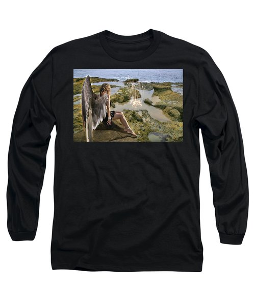 Angels- His Spirit Will Comfort You Long Sleeve T-Shirt