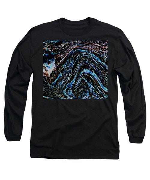 Long Sleeve T-Shirt featuring the photograph Angry Sea by Stephanie Grant