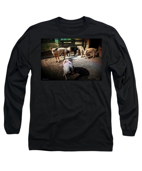 Angustown Piggies Long Sleeve T-Shirt by Cynthia Lassiter