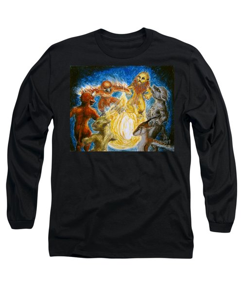 Animal Totem Dancers - Transformed Long Sleeve T-Shirt by Samantha Geernaert