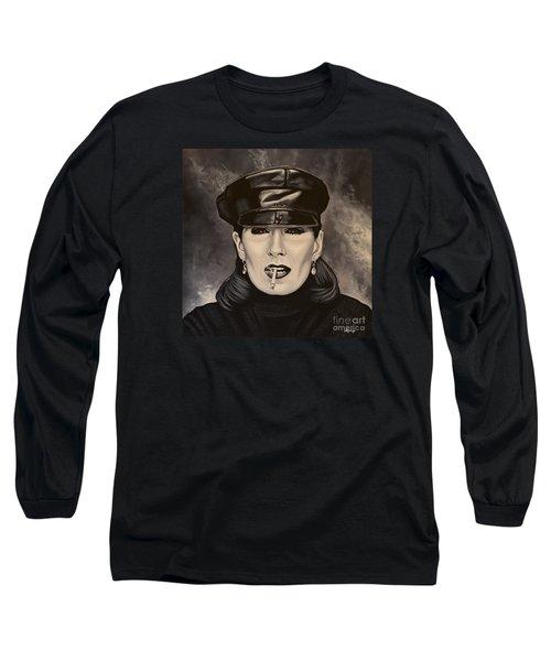 Anjelica Huston Long Sleeve T-Shirt by Paul Meijering