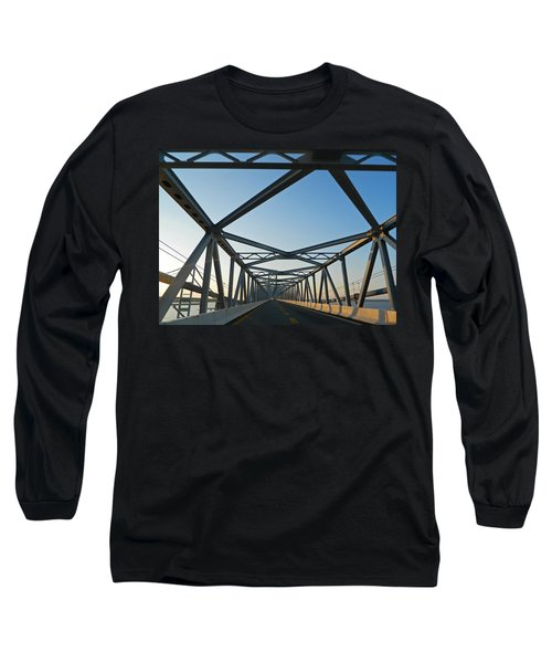 Annapolis Bay Bridge At Sunrise Long Sleeve T-Shirt by Emmy Marie Vickers