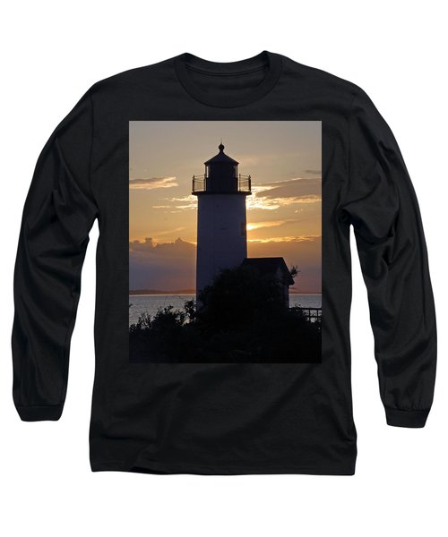 Annisquam Lighthouse Sunset Long Sleeve T-Shirt by Richard Bryce and Family