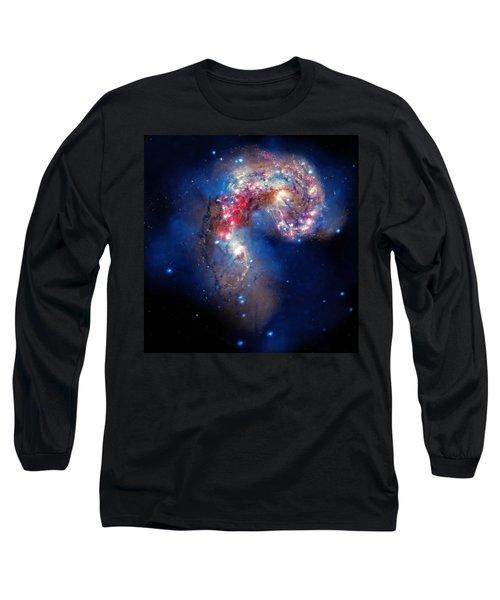 Antennae Galaxies Collide 2 Long Sleeve T-Shirt