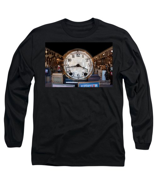 Long Sleeve T-Shirt featuring the photograph Antique Clock Store by Gunter Nezhoda