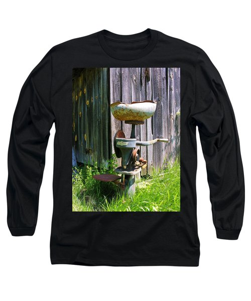 Long Sleeve T-Shirt featuring the photograph Antique Cream Separator by Sherman Perry