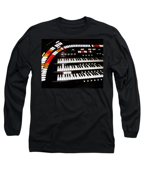Long Sleeve T-Shirt featuring the photograph Antique Organ by Marcia Socolik