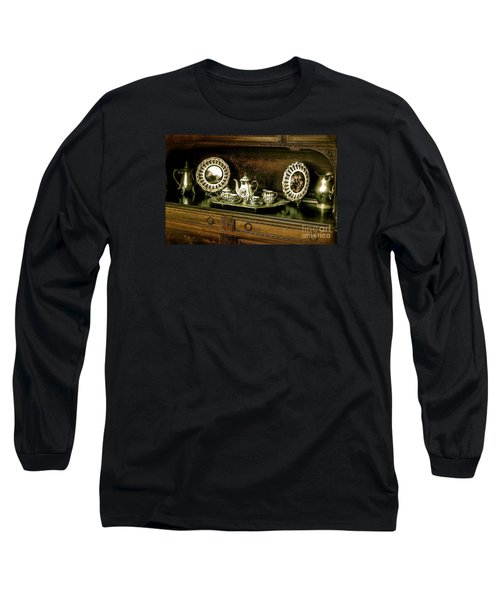 Antique Tea Set Long Sleeve T-Shirt by The Art of Alice Terrill