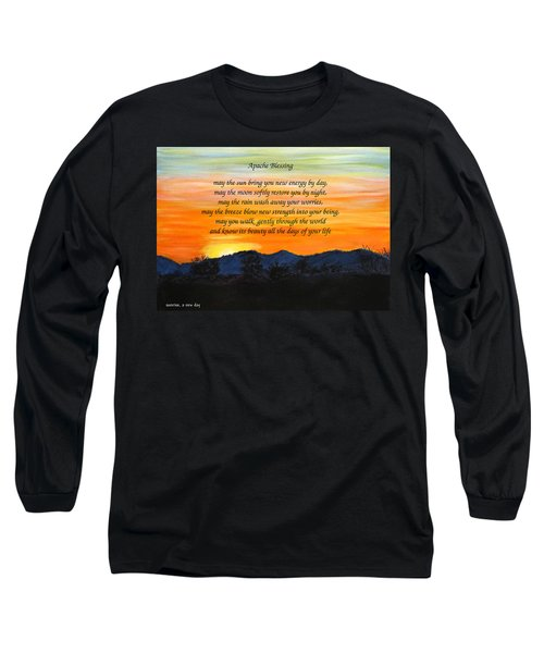 Apache Blessing-sunrise Long Sleeve T-Shirt