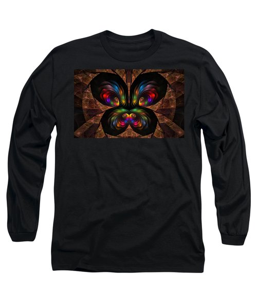 Apo Butterfly Long Sleeve T-Shirt by GJ Blackman