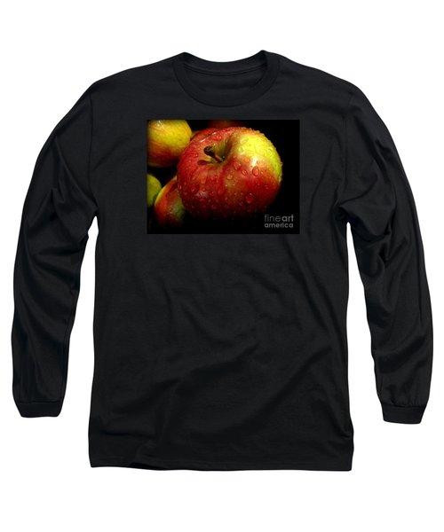 Apple In The Rain Long Sleeve T-Shirt by Miriam Danar