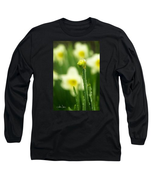 Long Sleeve T-Shirt featuring the photograph April Showers by Joan Davis